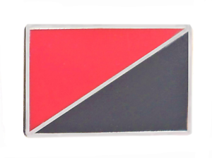 Anarchy Anarcho-Communism Anarcho-Syndicalism Flag Pin Badge