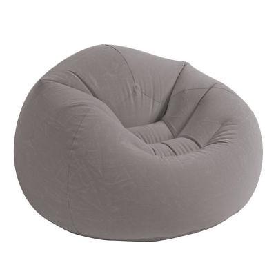 Intex Poltrona a sacco gonfiabile pouf colore grigio relax interno esterno 68579