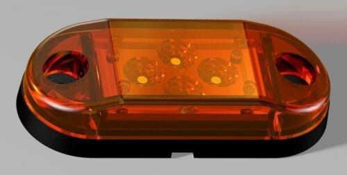 6 X Orange 12v 24v Seitenmarkierungsleuchten Lkw Anhänger Wohnwagen für Scania