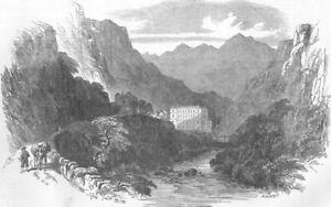 FRANCE-Eaux-Chaudes-Pyrenees-antique-print-1854