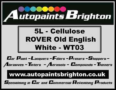 Rover Old English White WT03 Cellulose Car Paint 5L