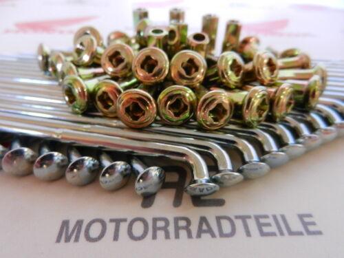"Honda CB 750 Four K0 K1 K2-K6 Speichensatz verzinkt Hinterrad 18/"" gelbe Nippel"