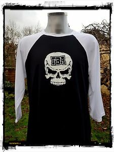 Rockabilly-Punk-Kustom-Biker-Skater-034-F-kin-Bad-Ass-034-3-Quarter-Raglan-Baseball-T