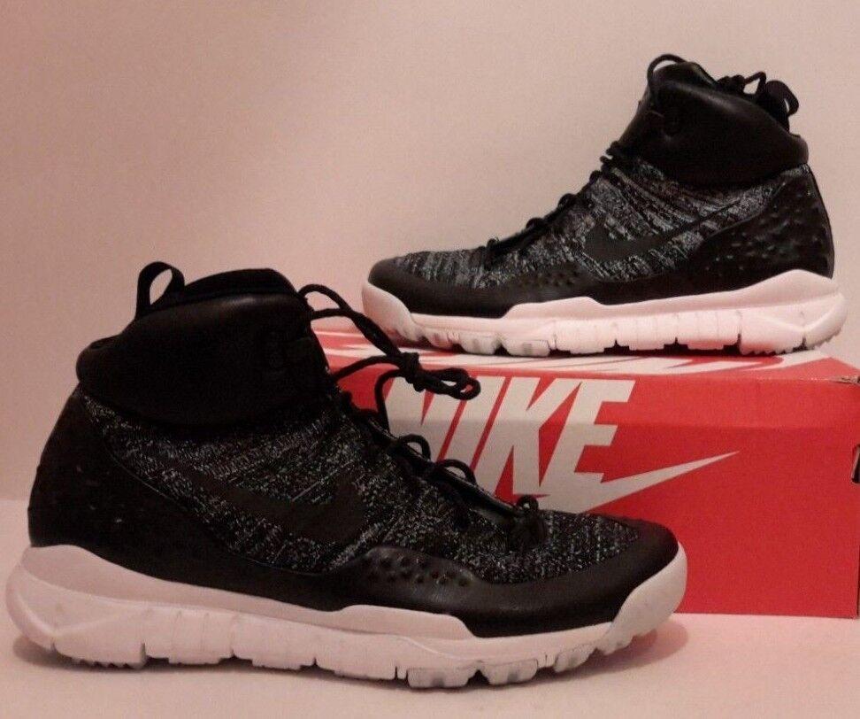 Nuove hi nike lupinek flyknit oreo hi Nuove top scarpe gli 11 m nero 862505-001 200 dollari. 375bac