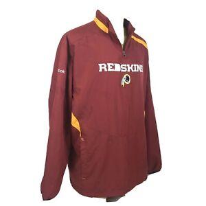 Reebok-NFL-Washington-Redskins-Team-Issued-Windbreaker-Pullover-Jacket-Mens-XXL