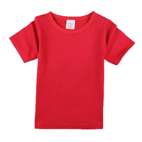 candy color Summer Girls t-shirts Short Sleeve boy t shirt children Kids Tops
