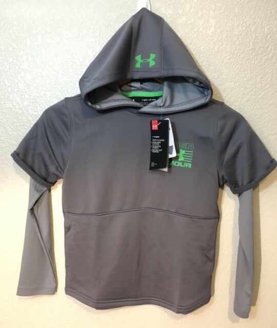Under Armour Cold Gear Loose Grey Youth Hoodie Long Sleeve
