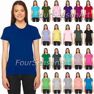 0b4afc2d American Apparel Ladies Fine Jersey Short-Sleeve T Shirt Womens Tee ...
