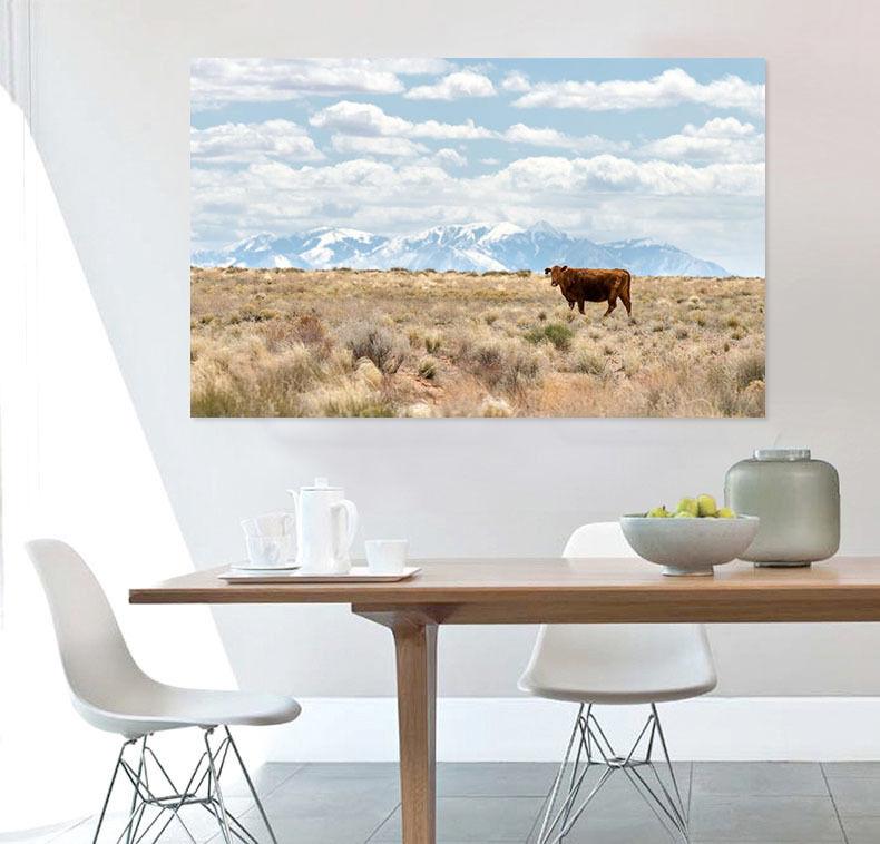 3D Rinder auf der Prrie Fototapeten Wandbild  BildTapete Familie AJSTORE DE