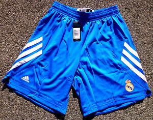 Real Madrid Basket Short Pantalon Court Adidas Pour Homme Taille S Nouveau Fan Bleu-afficher Le Titre D'origine