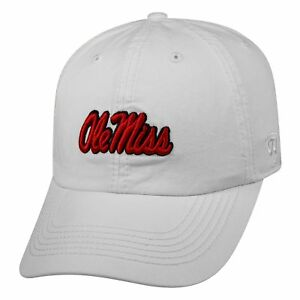 MISSISSIPPI-OLE-MISS-REBELS-NCAA-CREW-WHITE-SPORT-STRAPBACK-TOW-DAD-CAP-HAT-NWT