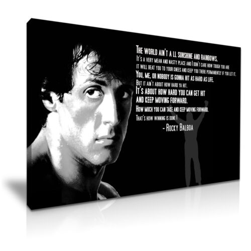 Rocky Balboa Movie Quote Boxing Canvas Wall Art Deco 9 Sizes