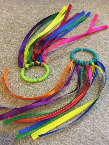 1 Sensory Play Item Rainbow Ribbon Link.
