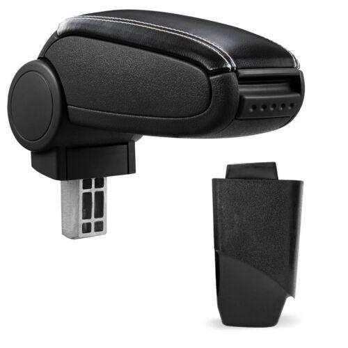 Armrest Centre Armrest Leather Cover Black//White for Peugeot 206 206 Cc