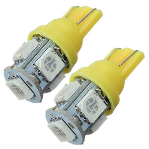 2x-T10-501-W5W-5-SMD-5050-LED-Car-Sidelight-Interior-Number-Plate-Bulb-Ligh-C8C0