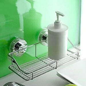 Bathroom Suction Cup Corner Shelf Shampoo Organizer Rack