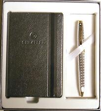 SHEAFFER Prelude Signature Snakeskin Ballpoint Pen & Jotter Set - CHROME & GOLD