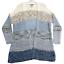 miniature 1 - American Rag Women's Cardigan Sweater Medium Long Open Front Shrug Blue Stripes