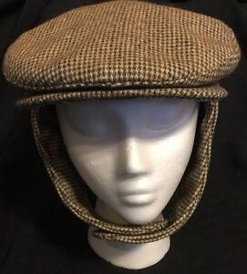 Country Gentleman Wool Newsboy Hat Cabbie Hats W  Ear Flaps USA ... f944d5c5270