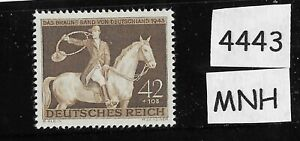 MNH-postage-stamp-1943-Brown-Ribbon-Horse-race-Third-Reich-Munich-Germany