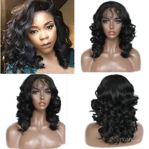 14-039-039-Wave-Lace-Front-Wigs-Synthetic-Black-Color-Short-Wavy-Synthetic-Wig-Fashion