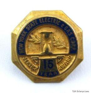 New-York-Estado-Electrico-amp-Gas-Corp-15-Anos-Pin