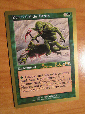 MTG 1998 World Championship Survival of the Fittest NM x1