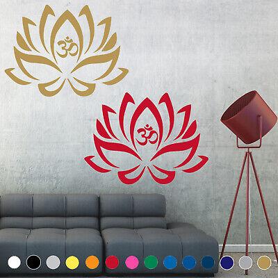 Lotus Flower Yoga Symbol Buddhism Wall Decal Sticker Door Room House Decor V4 Ebay