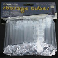 Clear Plastic Storage Tubes 3 For Delica And Seed Beads (25 Tubes) - Beadsmith