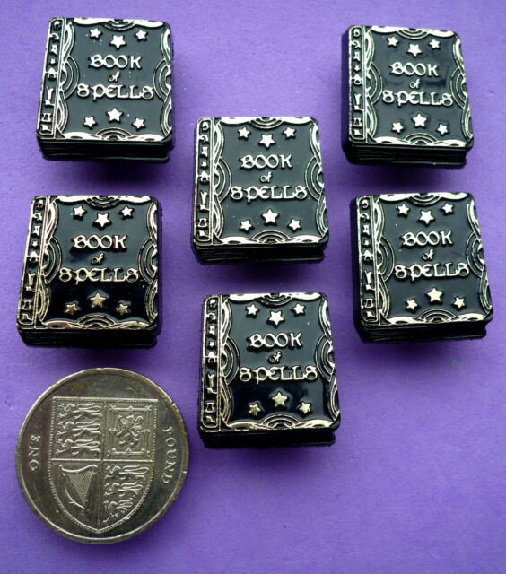 BOOK OF SPELLS Craft Buttons 1ST CLASS POST Witches Halloween Witch Magic