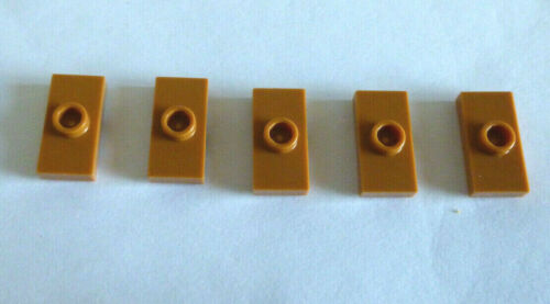 5 x LEGO® 3794//15573 Fliese 1x2 mit Mittelnoppe Nougat Farben neu.