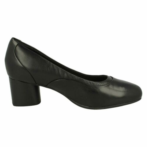 LADIES CLARKS LEATHER SLIPON UNSTRUCTURED SMART FORMAL COURT SHOES UN COSMO STEP