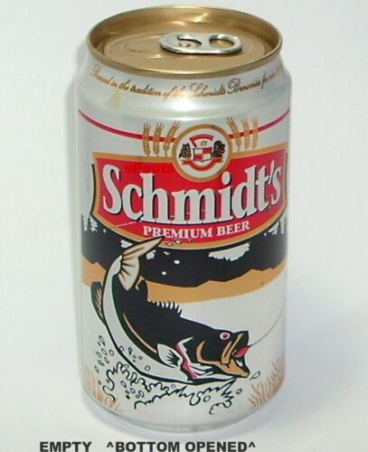 SCHMIDT/'S SPORT FISH BIG BLACK BASS BEER CAN WISCONSIN FISHING LARGE MOUTH GOLD