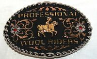 Montana Silversmiths® Professional Wool Riders Tri-color Belt Buckle