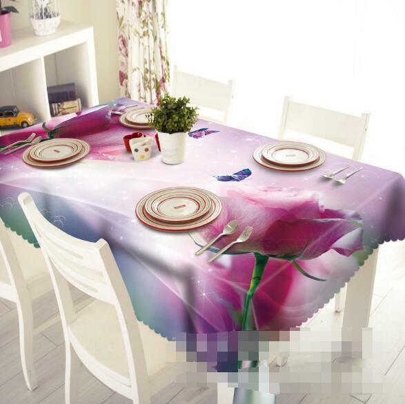 3D Rose rose 5 Tablecloth Table Cover Cloth Birthday Party Event AJ WALLPAPER AU