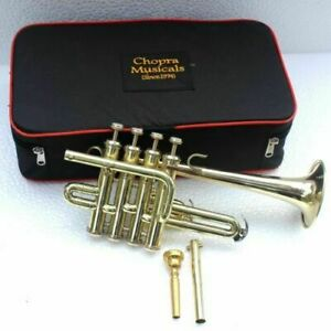 Piccolo-Trumpet-Shinning-Brass-4-Valve-with-Box-High-Quality-Chopra-Ship-Fast