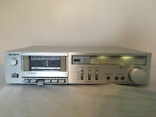 Sony TC-K22 Beautiful Vintage Silver Faced Stereo Cassette Deck