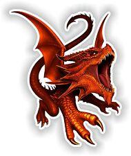 Red Dragon Art Sticker Laptop Book Fridge Guitar Motorcycle Door PC Boat ATV #01