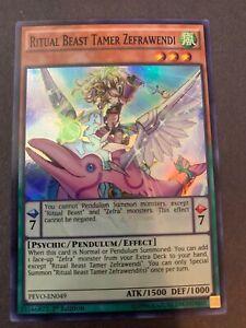 x3 Ritual Beast Tamer Zefrawendi PEVO-EN049 Super Rare 1st Edition