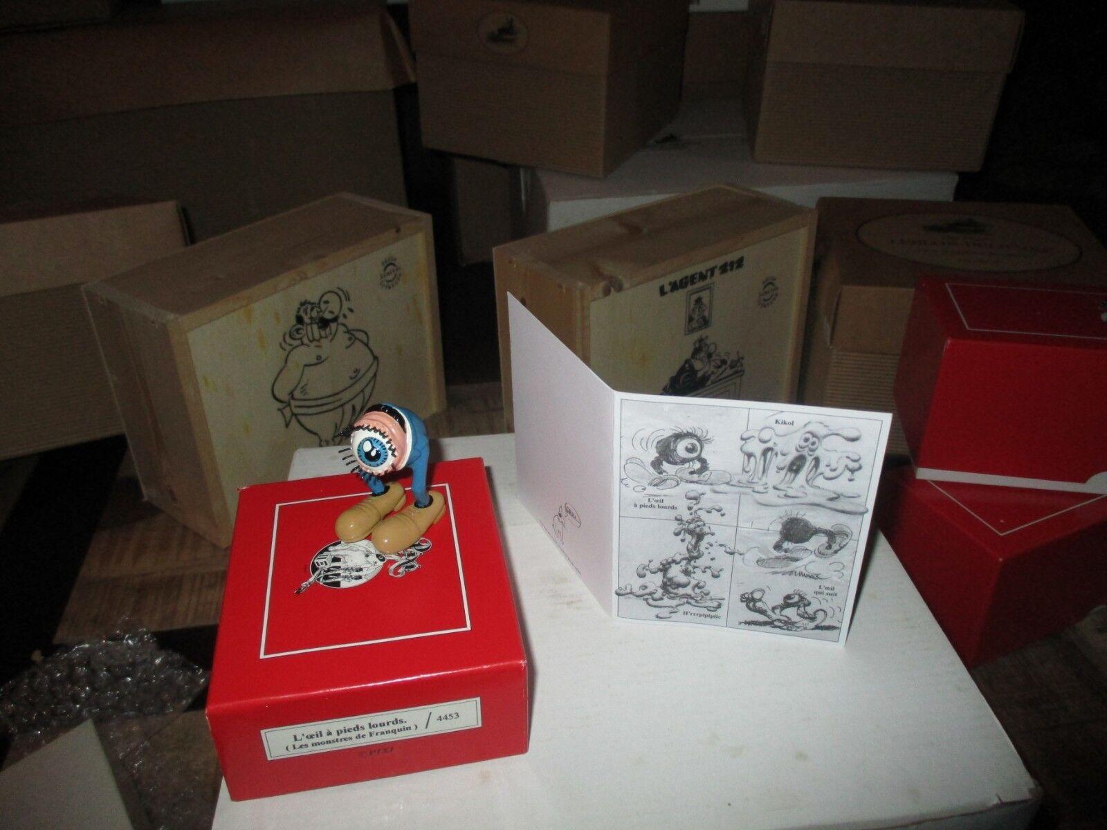 Franquin-Pixi- les monstres de Franquin-L oeil a pieds lourds-500 exempl.