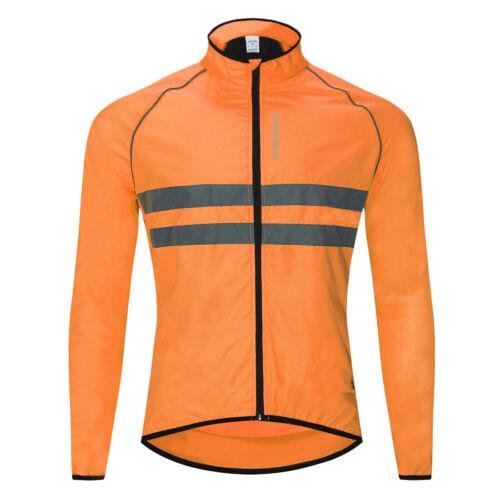 Uomini Giacca a vento ciclismo Giacca Full Zip Equitazione Cappotto Manica Lunga Abbigliamento Moto