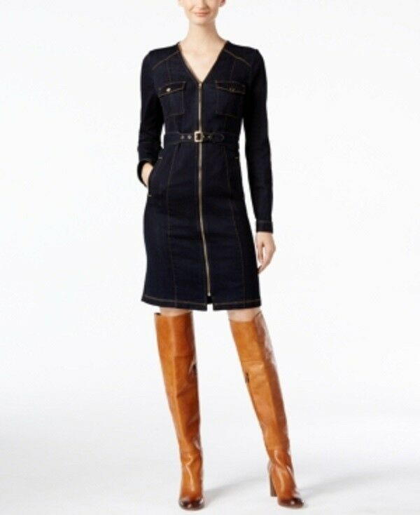 Inc Belted Denim Shirtdress, Made for Macy's