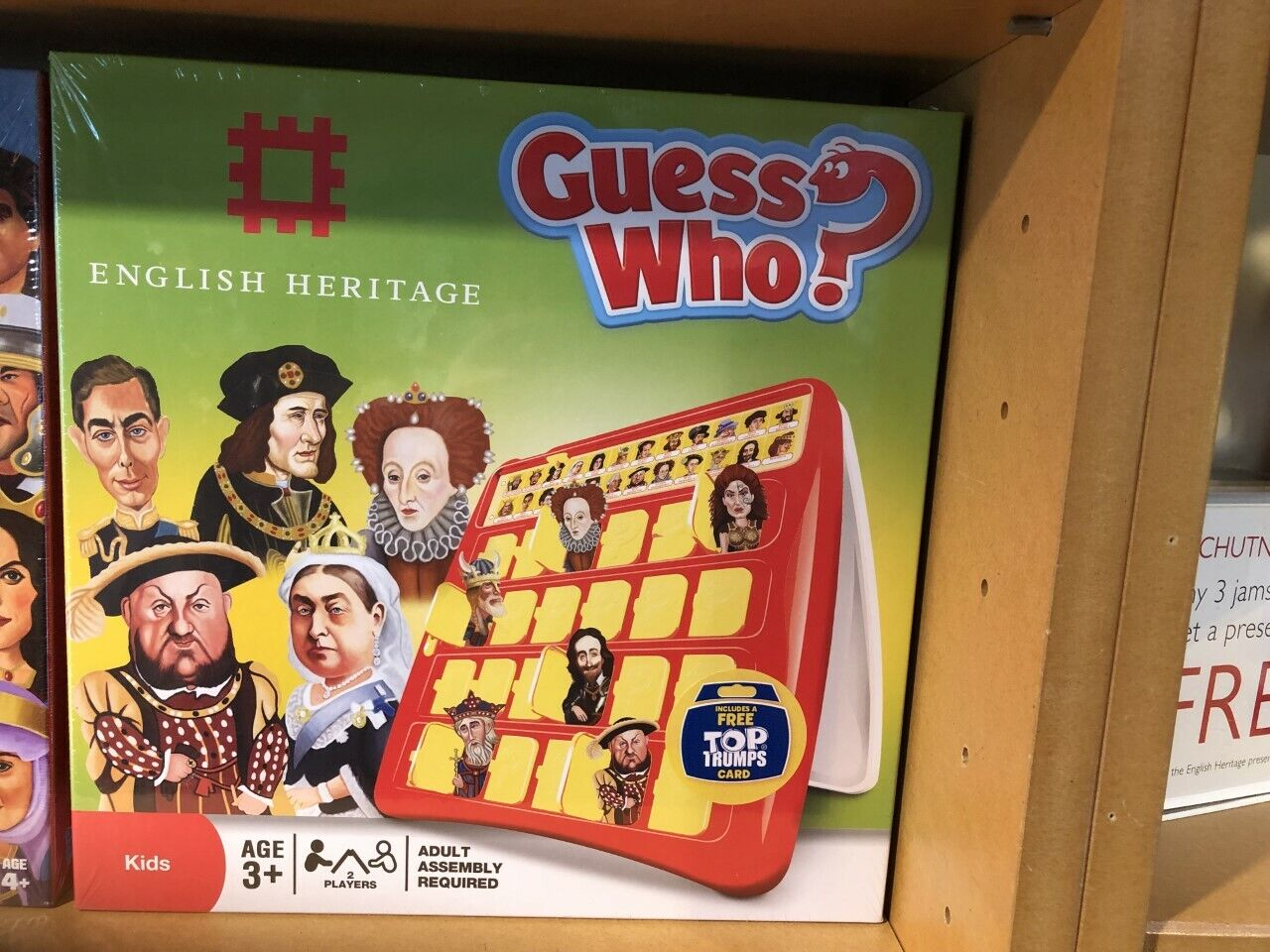 ENGLISH HERITAGE Guess Who Board Game - Rare   Collectable  NEW