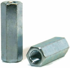 Coupling Nuts Zinc Plated Steel Rod Coupling Hex Nuts 14 20 To 12 13 Qty 25