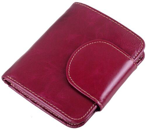 Women/'s Small Genuine Leather Clutch Wallet Ladies Mini Cute Bi-Fold Purse