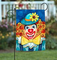 Toland - Clownin' Around - Bright Colorful Clown Smile Flower Garden Flag