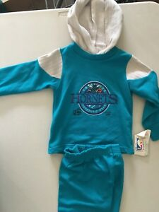 wholesale dealer fb9bf e5bfb Details about CHARLOTTE HORNETS RETRO CUTLER SPORTS APPAREL 2 PIECE HOODED  SWEATSUIT FREE SHIP