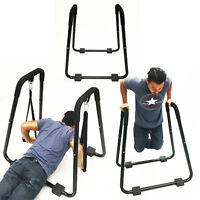 Home Gym Dip Stand Exercise Chest Tricep Rows W/ Straps Body Press Professional on sale
