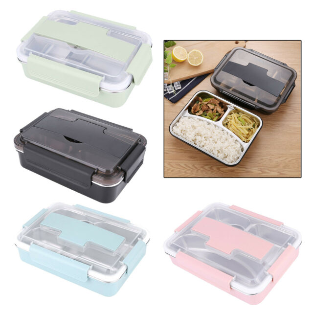 Portable Stainless Steel Bento Kitchen Lunch Box Leakproof School Food Container