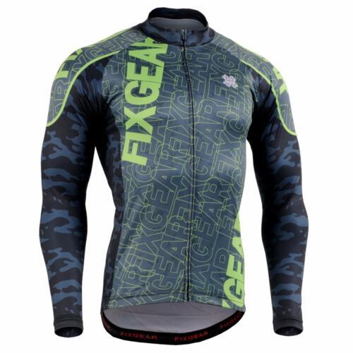 FIXGEAR CS-H1 Men/'s Long Sleeve Cycling Jersey Bicycle Apparel Roadbike MTB